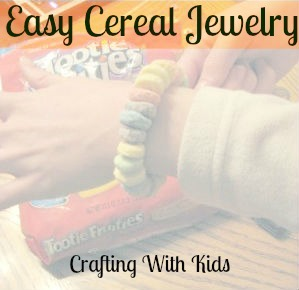 Easy Cereal Jewelry For Kids